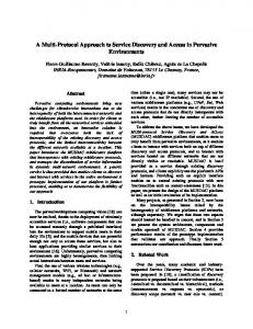 A Multi-Protocol Approach to Service Discovery ... - Semantic Scholar