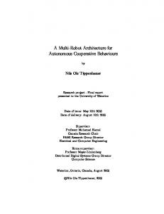 A Multi-Robot Architecture for Autonomous ... - Semantic Scholar