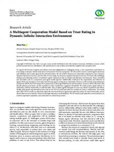 A Multiagent Cooperation Model Based on Trust Rating in Dynamic
