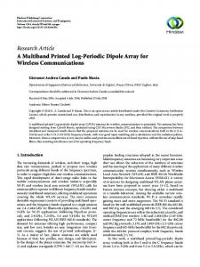 A Multiband Printed Log-Periodic Dipole Array for Wireless ...