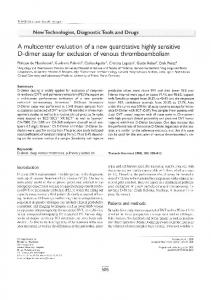 A multicenter evaluation of a new quantitative highly sensitive D ...