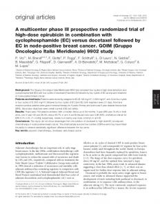 A multicenter phase III prospective randomized trial of high-dose ...
