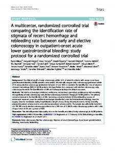 A multicenter, randomized controlled trial comparing ... - Springer Link