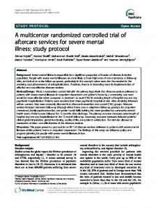 A multicenter randomized controlled trial of aftercare services for ...