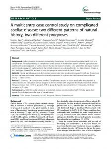 A multicentre case control study on complicated
