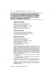 A multicriteria participation-based methodology for selecting ...