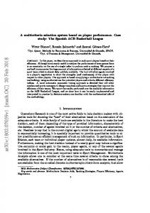 A multicriteria selection system based on player performance. Case ...