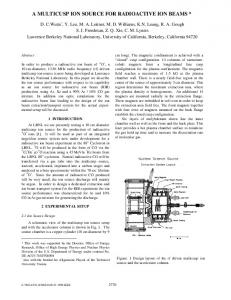 A Multicusp Ion Source for Radioactive Ion Beams