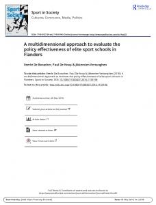 A multidimensional approach to evaluate the policy