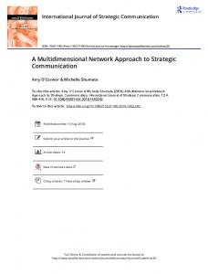 A Multidimensional Network Approach to Strategic Communication