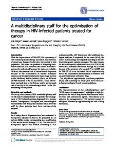 A multidisciplinary staff for the optimisation of therapy ... - Springer Link