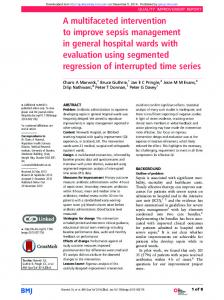 A multifaceted intervention to improve sepsis