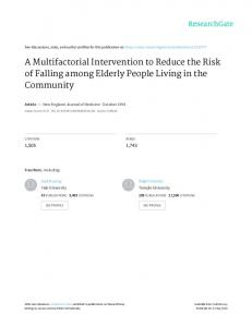 A Multifactorial Intervention to Reduce the Risk of