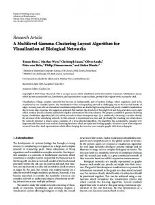 A Multilevel Gamma-Clustering Layout Algorithm for Visualization of