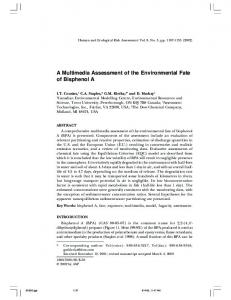 A Multimedia Assessment of the Environmental Fate of ... - CiteSeerX