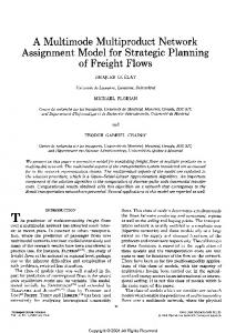 A Multimode Multiproduct Network Assignment Model