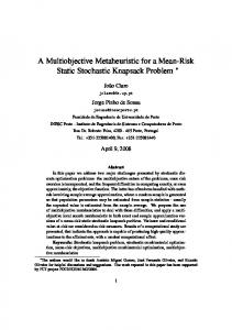 A Multiobjective Metaheuristic for a Mean-Risk Static Stochastic