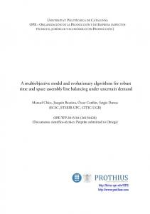 A multiobjective model and evolutionary algorithms for robust ... - CORE