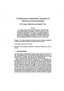 A Multiobjective Optimization Algorithm for Discovering Driving ...
