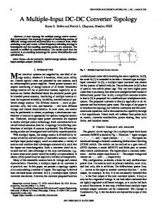 A multiple-input DC-DC converter topology - IEEE Power Electronics ...