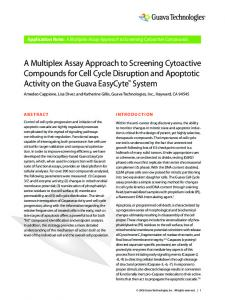 A Multiplex Assay Approach to Screening Cytoactive ... - EMD Millipore