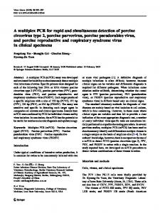 A multiplex PCR for rapid and simultaneous detection of porcine ...