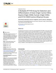 A Multiplex RT-PCR Assay for Detection and ... - Semantic Scholar