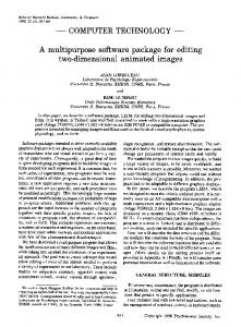 A multipurpose software package for editing two ... - Springer Link