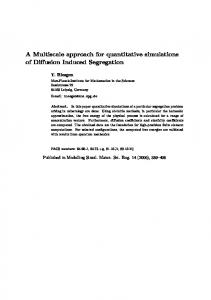 A Multiscale approach for quantitative simulations of
