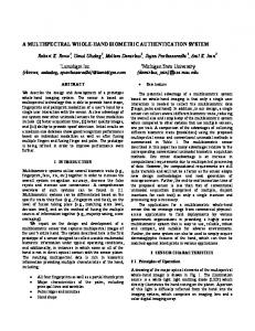 A Multispectral Whole-hand Biometric Authentication System