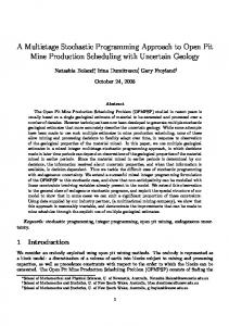 A Multistage Stochastic Programming Approach ... - Optimization Online