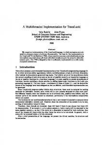 A Multithreaded Implementation for TransLucid - Computer Science ...
