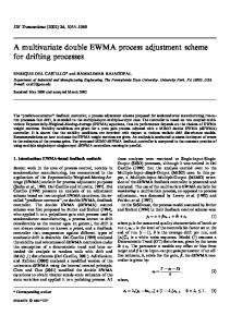 A multivariate double EWMA process adjustment scheme for drifting ...