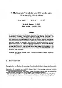 A Multivariate Threshold GARCH Model with Time-varying Correlations