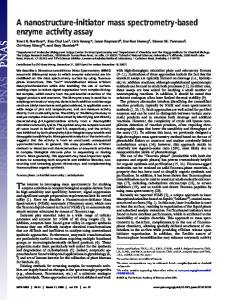 A nanostructure-initiator mass spectrometry-based enzyme activity assay