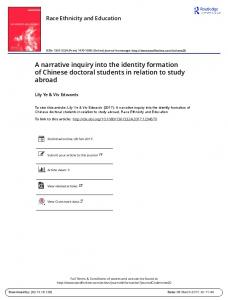 A narrative inquiry into the identity formation of