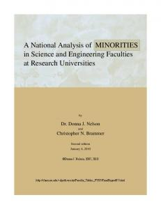 A National Analysis of MINORITIES in Science and ... - Faculty-Staff
