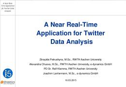 A Near Real-Time Application for Twitter Data Analysis