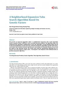 A Neighborhood Expansion Tabu Search Algorithm Based On Genetic ...
