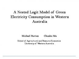 A Nested Logit Model of Green Electricity ...