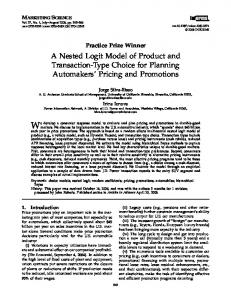 A Nested Logit Model of Product and Transaction ... - Semantic Scholar