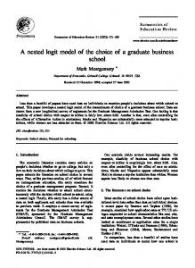A nested logit model of the choice of a graduate business school