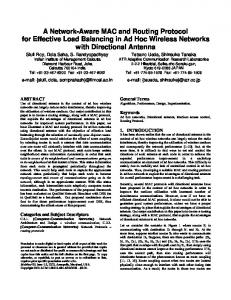 A Network-Aware MAC and Routing Protocol for Effective ... - SIGMobile
