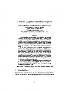 A Network Congestion control Protocol (NCP) - Ideals