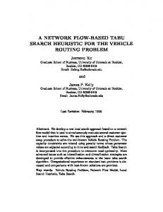 a network flow-based tabu search heuristic for the ... - Semantic Scholar