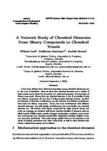 A Network Study of Chemical Elements: From Binary Compounds to ...
