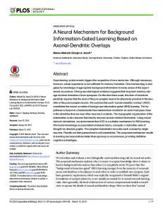 A Neural Mechanism for Background Information