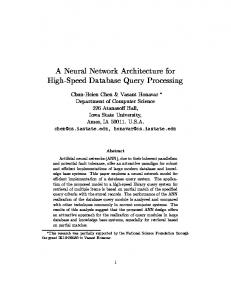 A Neural Network Architecture for High-Speed