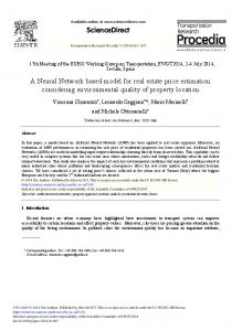 A Neural Network based Model for Real Estate Price ... - ScienceDirect