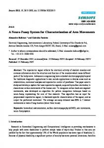 A Neuro-Fuzzy System for Characterization of Arm Movements - MDPI